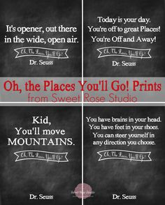 Free Dr. Seuss Oh the Places You'll Go Printables from Sweet Rose Studio