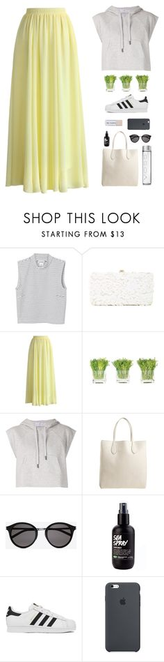 """s u m m e r d a n c e r"" by adinaking ❤ liked on Polyvore featuring Monki, Deux Lux, Chicwish, NDI, adidas, Rochas and Yves Saint Laurent"
