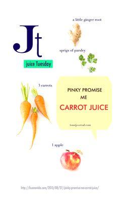 Pinky Promise Me Carrot Juice #juice #carrot