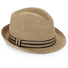 4fe2baafd82 Saks Fifth Avenue Made in Italy Paper Straw Fedora ( 40) ❤ liked on Polyvore