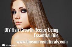 DIY Hair Growth Recipe Using Essential Oils  Thyme, Peppermint, Rosemary, Lavender.