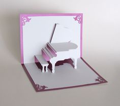 GRAND PIANO 3D Pop Up Card Origamic Architecture Home by BoldFolds, $15.00