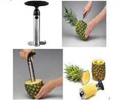 Stainless Steel Fastest Pineapple Ring Slicer and Corer-curtis Stone Pineapple Cutter Argos-professional& Easy Vacuvin Pineapple Slicer-pampered Chef Pineapple Corer Pineapple Slicer, Pineapple Cocktail, Must Have Gadgets, Kitchen Helper, Professional Chef, Kitchen Equipment, Healthy Eating Recipes, Pampered Chef, Kitchen Gadgets