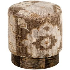 Senura Global Lodge Brown Kilim Patchwork Round Stool ($507) ❤ liked on Polyvore featuring home, furniture, stools, fabric stool, patchwork stool, kilim stool, upholstered stool and upholstered furniture