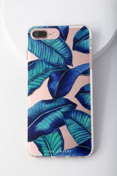 Tropical Leaves iPhone 6 Plus, 7 Plus, and 8 Plus Case