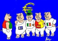 PIIGS: come maiali. L'acronimo sta per Portogallo, Italia, Irlanda, Grecia e Spagna, l'Economist nell'estate 2008, rinominò così i paesi che più hanno accusato gli effetti delle politiche dell'euro in Europa e il termine è ormai diventato comune nel linguaggio politico economico mondiale. Nel 2015 il premio Nobel Joseph Stiglitz scrisse insieme ad altri economisti una …