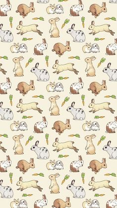 Lovely and cheerful bunny surface pattern design Imagem de background, bunny, and carrot Animals And Pets, Baby Animals, Cute Animals, Baby Bunnies, Cute Bunny, Animal Drawings, Cute Drawings, Bunny Drawing, Bunny Care