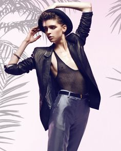 Kel Markey Makes it Menswear in Velour Magazine by Manolo Campion