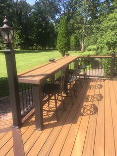 attractive deck patio design you should try for your backyard 23 - Backyard Landscaping - Garden Deck Backyard Patio Designs, Backyard Landscaping, Backyard Decks, Landscaping Around Deck, Backyard Picnic, Backyard Projects, Casa Patio, Deck Railings, Deck Railing Design