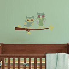 Owls-on-branch-nursery-stencil-DIY
