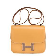 5587099fb886 Hermes Mini Constance 18cm Paille Tadelakt Agate Lizard Palladium