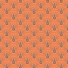 A Web of Black Widows - pumpkin fabric by kayajoy on Spoonflower - custom fabric