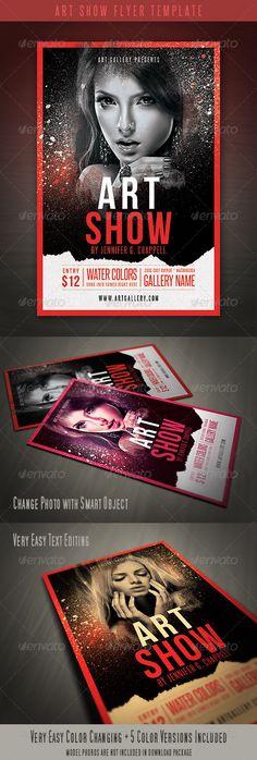 Art Show Flyer Template - http://graphicriver.net/item/art-show-flyer-template/4416045?ref=cruzine