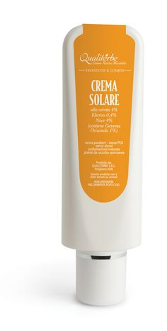 Crema solare naturale senza parabeni