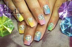 Artificial Nails, Uv Gel Nails, High Definition, Vw, Nail Designs, Nail Art, Colour, Crystals, Nail Desighns