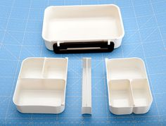 """The Idea bento box. Adjustable/removable dividers make it very versatile and """"perfect for a beginner."""" - justbento.com"""