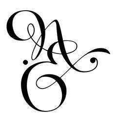 Mod le de tatouage calligraphique deux lettres me natcalli tatoo pinterest amour id es - Modele tatouage lettres entrelacees ...