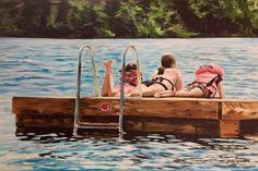Three Girls On a Raft
