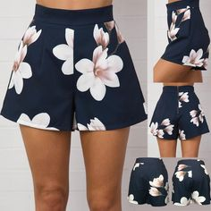 Purchase Fashion Women's Casual Summer High Waist Zipper Shorts Floral Printed Hot Pants from Bluelans on OpenSky. Shorts Outfits Women, Short Outfits, Short Dresses, Hot Shorts, Hot Pants, Fashion Pants, Fashion Outfits, Womens Fashion, Fashion Ideas