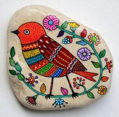 pintura em pedra