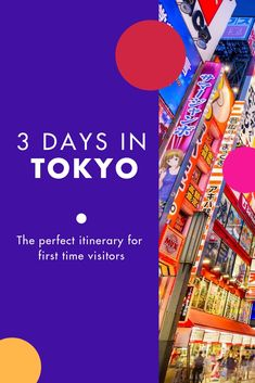 Visiting Tokyo for the first time or thinking of visiting Tokyo and wondering how to make the most of your time there? Here is the perfect three-day itinerary for Tokyo, Japan to kick-start your adventure! Gokayama, Shinjuku Gyoen, Welcome On Board, Visit Tokyo, Odaiba, Kanazawa, Tokyo Travel, City Break, Tokyo Japan
