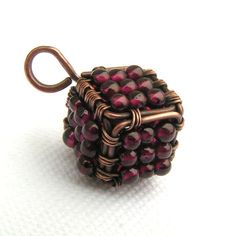Your place to buy and sell all things handmade Wire Jewellery, Jewelry, Wire Necklace, Handmade Copper, Wire Wrapped Pendant, Red Garnet, Copper Wire, Wire Wrapping, Cube