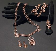 A personal favorite from my Etsy shop https://www.etsy.com/listing/186861882/copper-jewelry-setcopper-earringcopper