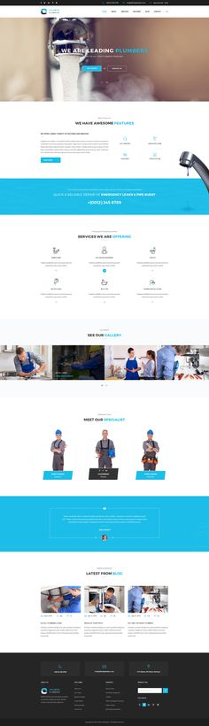 Atlanta : Plumbers PSD Template • Download ➝…