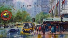 In this fine art TV show episode Jacky Pearson is interviewed with Colour In Your Life about painting, drawing, art workshops, art tips and art techniques. Watercolor Video, Watercolor Painting Techniques, Watercolor Portraits, Painting Tips, Watercolour Painting, Watercolor Classes, Watercolours, Rain Street, Gouache Tutorial