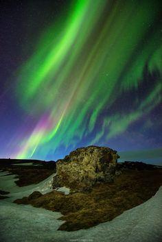 Lava Rock with Aurora - null