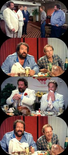 Bud Spencer and Terence Hill Bud Spencer, Terence Hill, Series Movies, Mario, Cinema, Cartoon, Tv, Couple Photos, Spaghetti