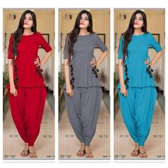The New Designer Patiyala Style Kurti With Dhoti And Flair On Kurti - Ethnic Export Casual Outfits Summer Classy, Stylish Dresses For Girls, Designer Party Wear Dresses, Kurti Designs Party Wear, Dress Indian Style, Indian Outfits, Indian Designer Suits, Designer Kurtis, Pakistani Frocks