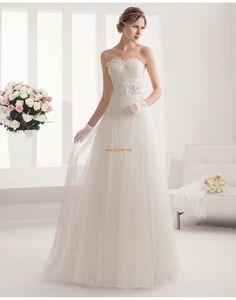 Longueur ras du sol Printemps Empire Robes de mariée 2015