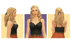 Sims 4 CC's - The Best: Helen Hair for Females by BlogSimpleSimmer