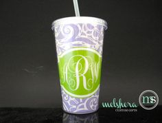 Paisley Chevron Fully Customizable Tumbler - Monogram Custom Personalized Tumbler - Monogram Cup 16 oz With Straw on Etsy, $13.00