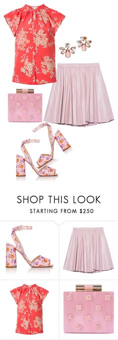 """""""Untitled #2940"""" by carmelaromio ❤ liked on Polyvore featuring Prada, 2NDDAY, Rebecca Taylor, Katherine Kwei and Marchesa"""