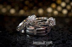 Kristen & Michael's wedding rings at Azul Fives in Playa del Carmen