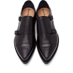 Acne Studios Black Leather Penn Monk Strap