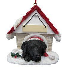 Labrador Doghouse Ornament