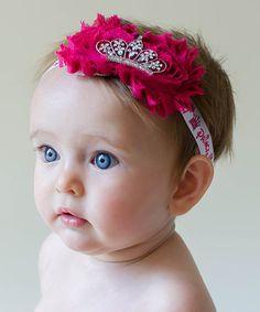 Look at this #zulilyfind! Fuchsia Crown Headband #zulilyfinds