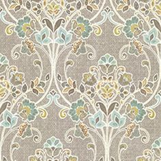 Sample Willow Grey Nouveau Floral Wallpaper from the Kismet Collection by Brewster Home Fashions Grey Wallpaper Samples, Look Wallpaper, Embossed Wallpaper, Damask Wallpaper, Wall Wallpaper, Wallpaper Remover, Home Depot Wallpaper, Classic Wallpaper, Beautiful Wallpaper