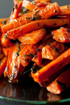This dish is inspired by a roasted carrot antipasto I recently sampled at Oliveto Cafe in Oakland, Calif The roasted carrots were tossed with lots of parsley and thyme, and I loved the way those bitter herbs offset the sweetness of the carrots.
