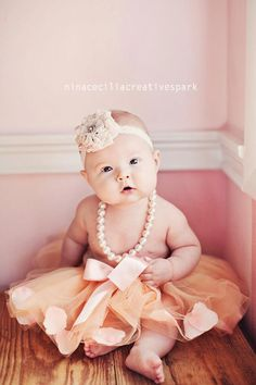 girly girl with pearls