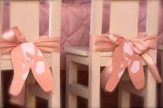 Ballerina party chair decorations