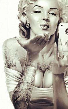 tattooed Marilyn. This is just perfect.