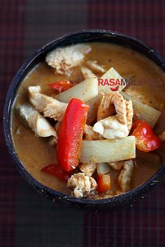 Thai Chicken Curry with Bamboo Shoots and Coconut Milk