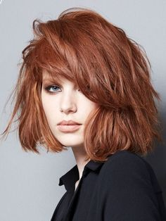 Soothing Medium Bob Hairstyles for All Faces-Best Bob Haircut Ideas Hair Color Auburn, Auburn Hair, Red Hair Color, Hair Color Balayage, Ombre Hair, Wavy Hair, Medium Bob Hairstyles, Box Braids Hairstyles, Summer Hairstyles