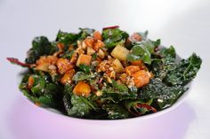 Kale Hero Salad from a guest on The Chew... I love Kale salad and this one looks delish ! / kj ~ and I agree with him, look for the dark flat leaf kale not the curly one (at least for a salad), it's more tender.