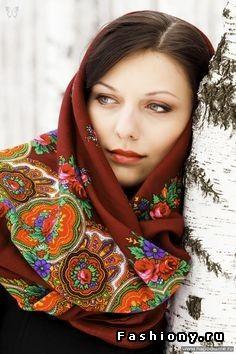 Павловопосадский style / павлопосадский платок черный с кистями
