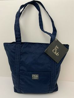Nylon Tote Bags, Reusable Tote Bags, Hipster Stuff, Club Usa, Preppy Style, Zip, Best Deals, Casual, Blue